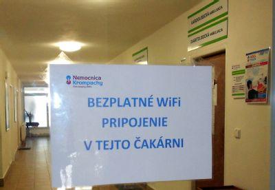 Internet pre pacientov Nemocnice Krompachy je zadarmo