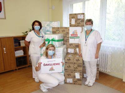 Krompašská nemocnica dostala stovky plienok